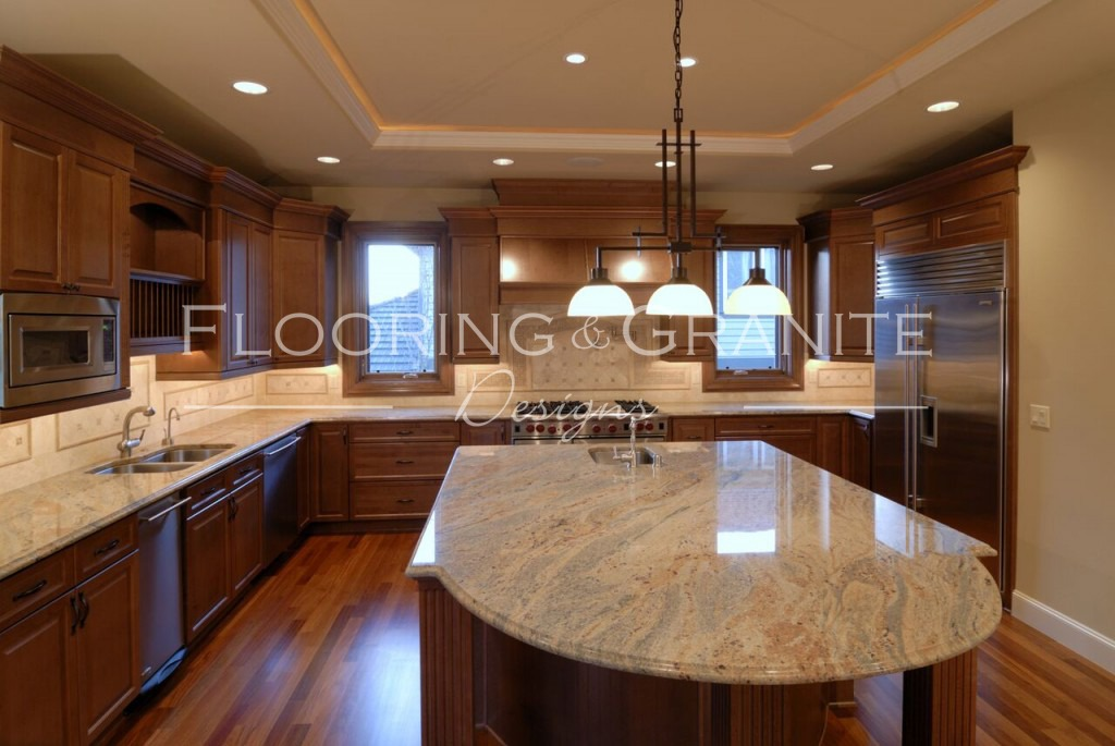 luxury kitchen with granite countertops - louisville flooring, granite and glass specialists