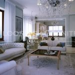 Luxury living room. 3d interior