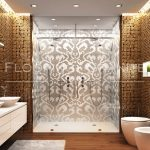 Exquisite luxury tile bathroom with glass enclosure